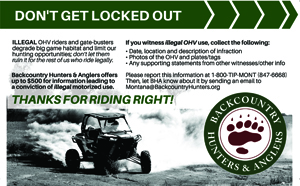 Don't get locked out - Thanks for riding right!